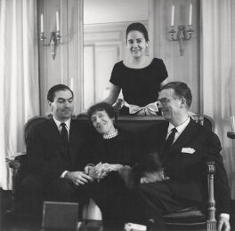 Marie-Louise Bousquet; Cristobal Balenciaga and two unknown sitters, by Cecil Beaton - NPG x40011