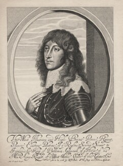 Prince Rupert, Count Palatine, sold by Sir Robert Peake, after  William Faithorne, after  Sir Anthony van Dyck - NPG D18150