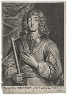 Prince Rupert, Count Palatine, by Hendrik Snyers, after  Sir Anthony van Dyck, mid 17th century - NPG D18151 - © National Portrait Gallery, London
