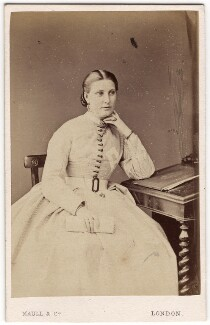 Florence Barbara Maria (née von Sass), Lady Baker, by Maull & Co, 1865-1869 - NPG x46693 - © National Portrait Gallery, London