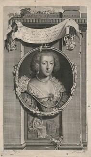 Princess Elizabeth, Queen of Bohemia and Electress Palatine, by Pieter Stevens van Gunst, after  Gerrit van Honthorst - NPG D18131