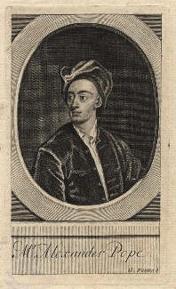 Alexander Pope, by George Vertue, after  Sir Godfrey Kneller, Bt, 1720 - NPG D18161 - © National Portrait Gallery, London