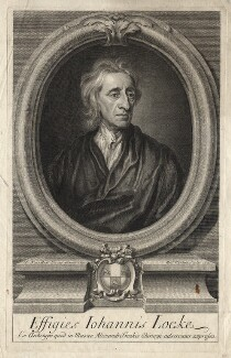 John Locke, by George Vertue, after  Sir Godfrey Kneller, Bt - NPG D18162