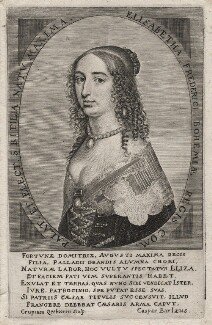 Elizabeth, Princess of the Palatinate, by Crispyn van den Queborne, mid 17th century - NPG D18201 - © National Portrait Gallery, London