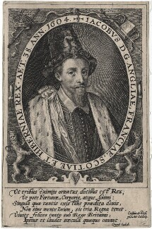 King James I of England and VI of Scotland, by Crispijn de Passe the Elder - NPG D18173