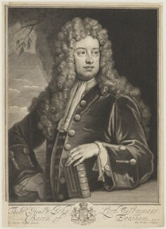 John Somers, Baron Somers, by George Vertue, after  Sir Godfrey Kneller, Bt - NPG D18165