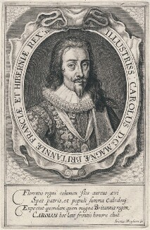 King Charles I, published by Johannes Meyssens, after  Daniel Mytens - NPG D18212