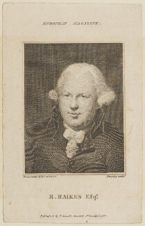 Robert Raikes, by William Bromley, published by  John Sewell, after  Samuel Drummond - NPG D15079