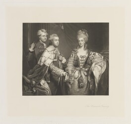 The Harcourt Family, by Charles Algernon Tomkins, after  Sir Joshua Reynolds - NPG D15088