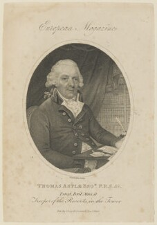 Thomas Astle, by William Ridley, published by  John Sewell - NPG D15092