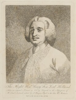 Henry Fox, 1st Baron Holland, by Joseph Haynes, after  William Hogarth - NPG D15100