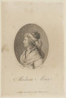Gertrud Elisabeth Mara, by William Ridley, published by  Vernor & Hood, after  Jacques Louis David - NPG D15104