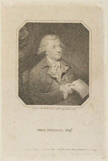 John O'Keeffe, by C. Blackberd, published by  Thomas Bellamy, after  Thomas Lawranson - NPG D15106