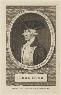 Samuel Hood, 1st Viscount Hood, published by William Bent - NPG D15111