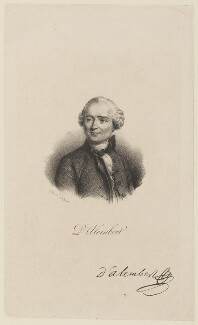 Jean le Rond d'Alembert, by and published by François Séraphin Delpech - NPG D15114