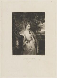 Margaret Caroline (née Leveson-Gower), Countess of Carlisle, by Samuel William Reynolds, after  Sir Joshua Reynolds - NPG D15126