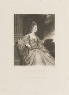 Lady Christian Henrietta Caroline ('Harriet') Acland (née Fox, Fox-Strangways), by and published by Samuel William Reynolds, after  Sir Joshua Reynolds - NPG D15128
