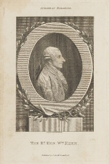 William Eden, 1st Baron Auckland, by Thomas Holloway, published by  John Sewell - NPG D15135