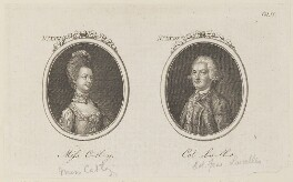 'Miss C-tl-y and Col L-s-ll-s' (Ann Catley; Francis Lascelles), by Unknown artist - NPG D15141
