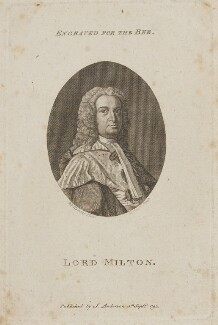 Andrew Fletcher, Lord Milton, by Robert Scott, published by  J. Anderson, after  Allan Ramsay - NPG D15154