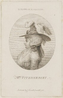 Maria Anne Fitzherbert (née Smythe), by Thomas Holloway, published by  John Sewell - NPG D15167