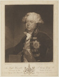 Sir George Yonge, 5th Bt, by Edmund Scott, published by  Samuel William Fores, after  Mather Brown - NPG D15170