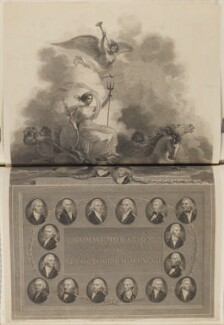 'Commemoration of the 11th October 1797', by George Noble, and by  James Parker, published by  Robert Bowyer, and published by  John Edwards, after  Robert Smirke, after  John Smart - NPG D15178