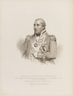 Sir John Thomas Duckworth, 1st Bt, by Giovanni Vendramini, published by  T. Cadell & W. Davies, after  William Evans, after  Sir William Beechey - NPG D15180