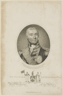 Sir Richard Hussey Bickerton, by William Ridley, published by  Joyce Gold, after  Thomas Maynard - NPG D15183