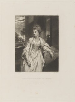 Louisa (née Thynne), Countess of Aylesford, by Samuel William Reynolds, published by  Hodgson & Graves, after  Sir Joshua Reynolds - NPG D15191