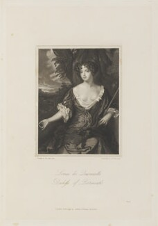 Louise de Kéroualle, Duchess of Portsmouth, by Charles Edward Wagstaff, published by  Colburn & Bentley, after  Sir Peter Lely - NPG D15200