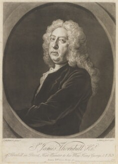 Sir James Thornhill, by and published by John Faber Jr, after  Joseph Highmore - NPG D15203