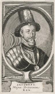 King James I of England and VI of Scotland, by Johann Alexander Böner, after  Jacob Loots (Loets) - NPG D18172