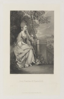 Anne Stanhope (née Thistlethwaite), Countess of Chesterfield, by James Scott, published by  Henry Graves, after  Thomas Gainsborough - NPG D15217