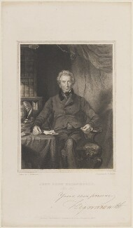 John Shore, 1st Baron Teignmouth, by William Walker, published by  John Hatchard, after  George Richmond - NPG D15223