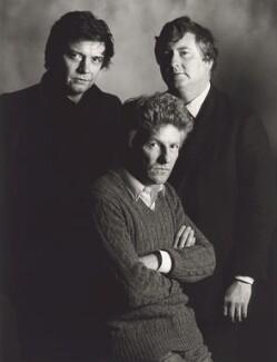 David Bailey; Patrick Lichfield; Terence Donovan, by John Swannell, circa 1980 - NPG x25285 - © John Swannell / Camera Press