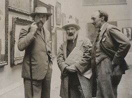 Augustus John; Constantin Brancusi; Frank Owen Dobson, by Unknown photographer - NPG x20684