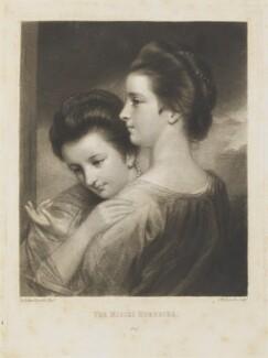 Catherine Bunbury (née Horneck); Mary Gwyn (née Horneck), by and published by Samuel William Reynolds, after  Sir Joshua Reynolds - NPG D15233