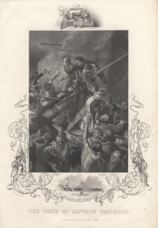 The Death of Captain Faulknor (Robert Faulknor), by John Rogers, published by  J & F Tallis, after  Thomas Stothard - NPG D18311