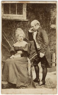 George Gilbert Scott Jr; Ellen Gilbert Scott (née King Sampson), by W.M. Clarke - NPG x126180