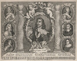 King Charles I and his Supporters, by Unknown artist - NPG D18319