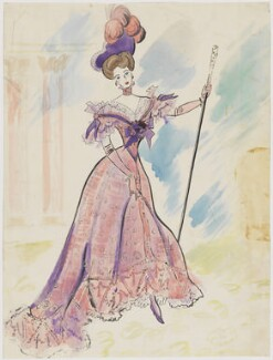 Costume Design (Unknown Siiter), by Cecil Beaton - NPG D3620