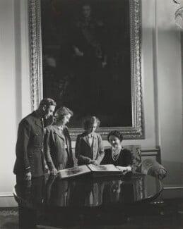 King George VI; Queen Elizabeth II; Princess Margaret; Queen Elizabeth, the Queen Mother, by Cecil Beaton - NPG x12136