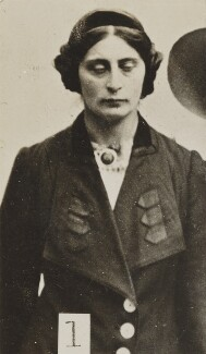 Margaret Scott (Margaret Gertrude Schencke), by Criminal Record Office, 1914 - NPG  - © National Portrait Gallery, London