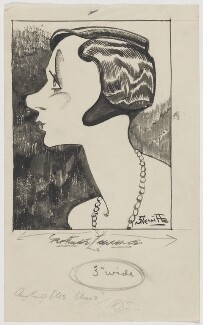 Gertrude Lawrence, by Robert Stewart Sherriffs - NPG D18346