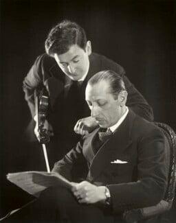 Samuel Dushkin; Igor Fyodorovich Stravinsky, by Paul Tanqueray, 1934 - NPG  - © estate of Paul Tanqueray