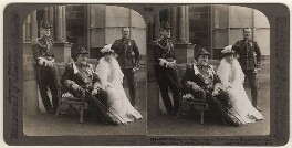 Sir Harry Holdsworth Rawson and Alice Rawson with two unknown others, published by Underwood & Underwood, after 1905 - NPG  - © National Portrait Gallery, London