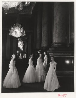 Maids of Honour at the Coronation of Queen Elizabeth II, by Cecil Beaton, June 1953 - NPG x14010 - © V&A Images