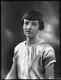 Hon. Rosemary Sylvia Esson-Scott (née Cary, later Mrs Mayhew), by Bassano Ltd, 4 November 1924 - NPG x123002 - © National Portrait Gallery, London