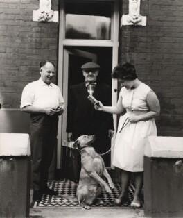 Scottie Wilson with his landlord and landlady, by Ida Kar - NPG x126214
